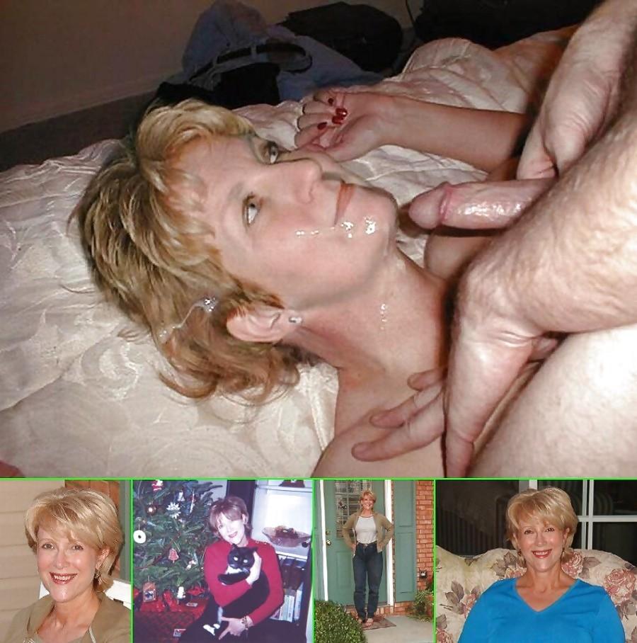 Blond matures taking cum gifs