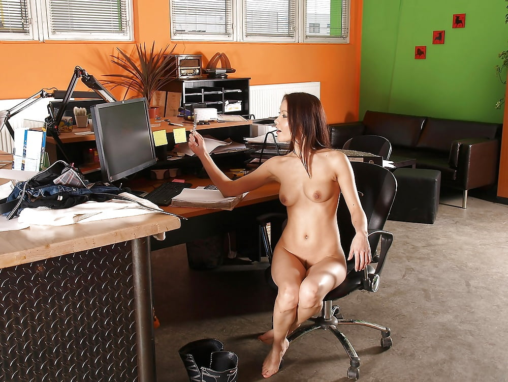 Naked babes at work