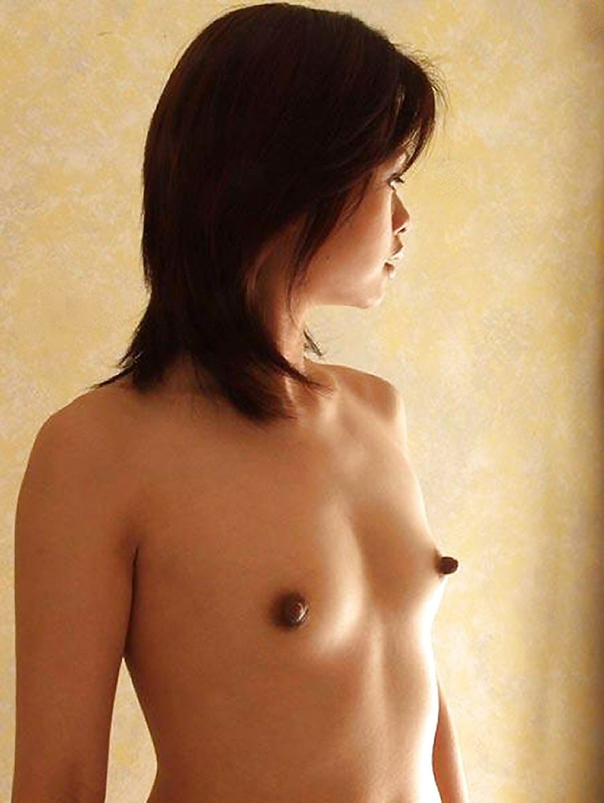 Skinny young ivey with big nipples small breasts posing in white stockings