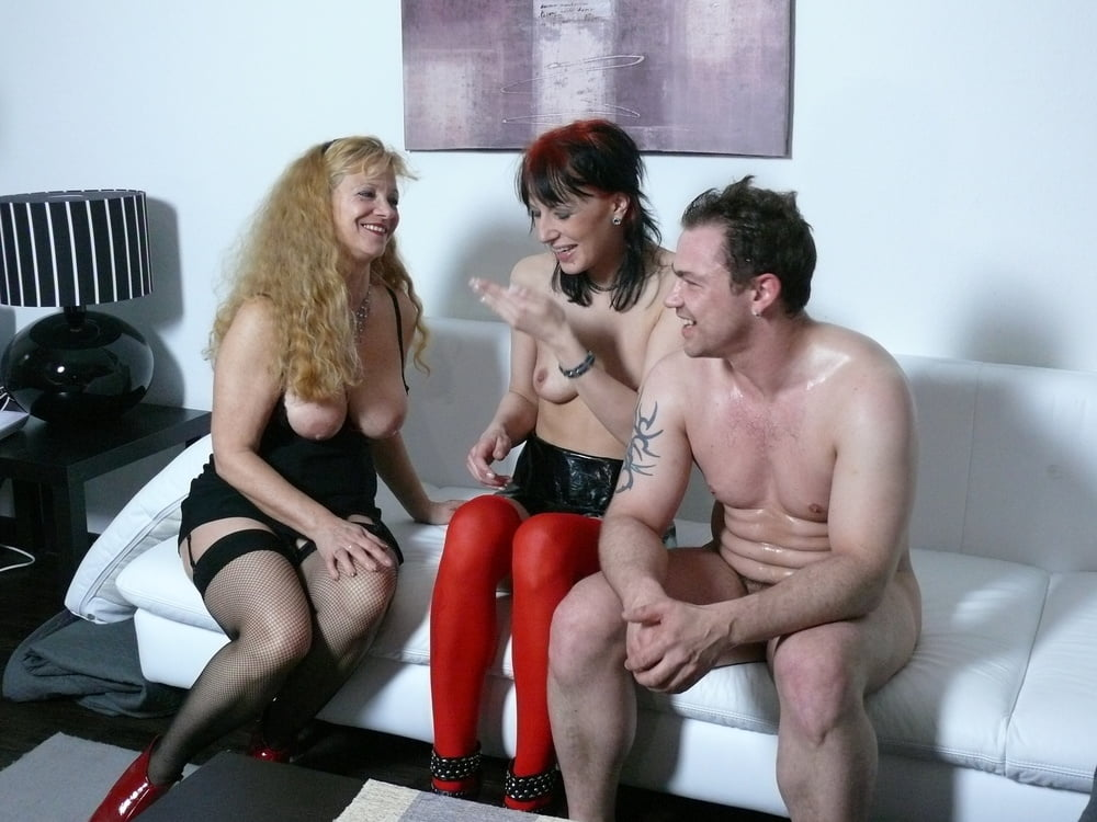 German Mother Teach Step Daughter to Fuck her new BF in FFM - 22 Pics