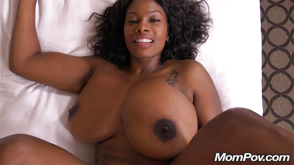 Big old black tits