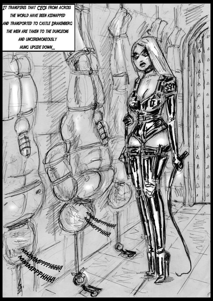 ballbusting bondage bdsm pics drawings Femdom