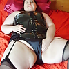 Vinyl corset strip and satin panty masturbation