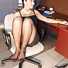 Your Boss's wife knows you love nylon feet!