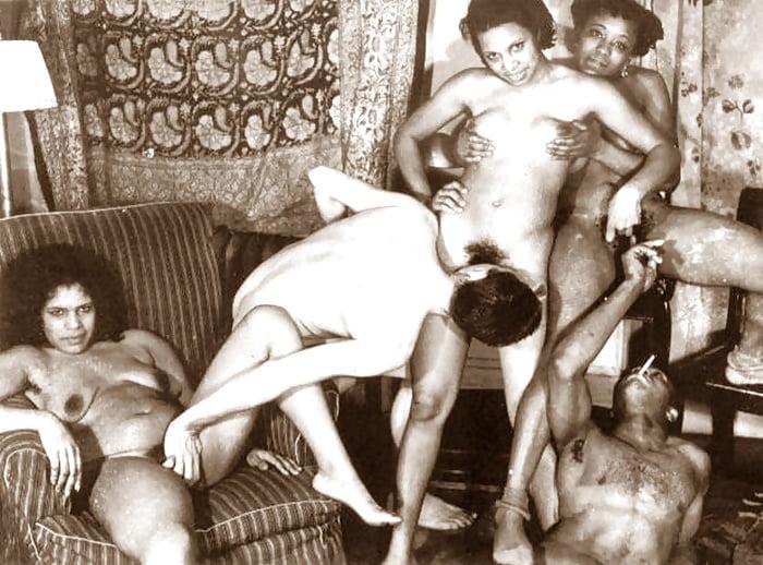Old Vintage Sex - Interracial Group Circa 1930 - 40 Pics -5088