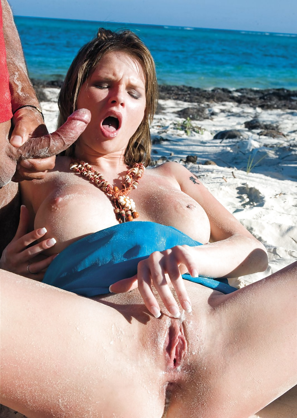 Girl with beach hardcore porn creamp pie eating