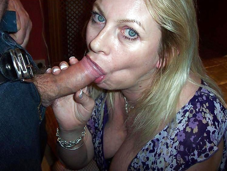 Load swallowing blonde mature wife — 6