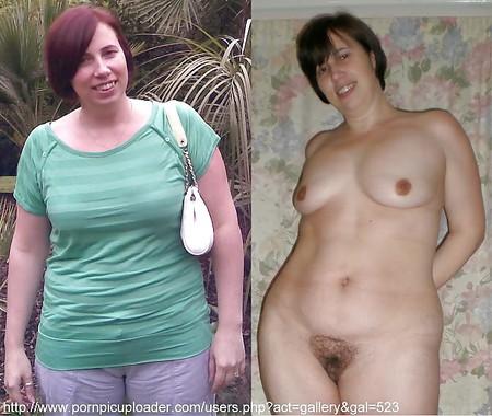 Slut Holly dressed and undressed
