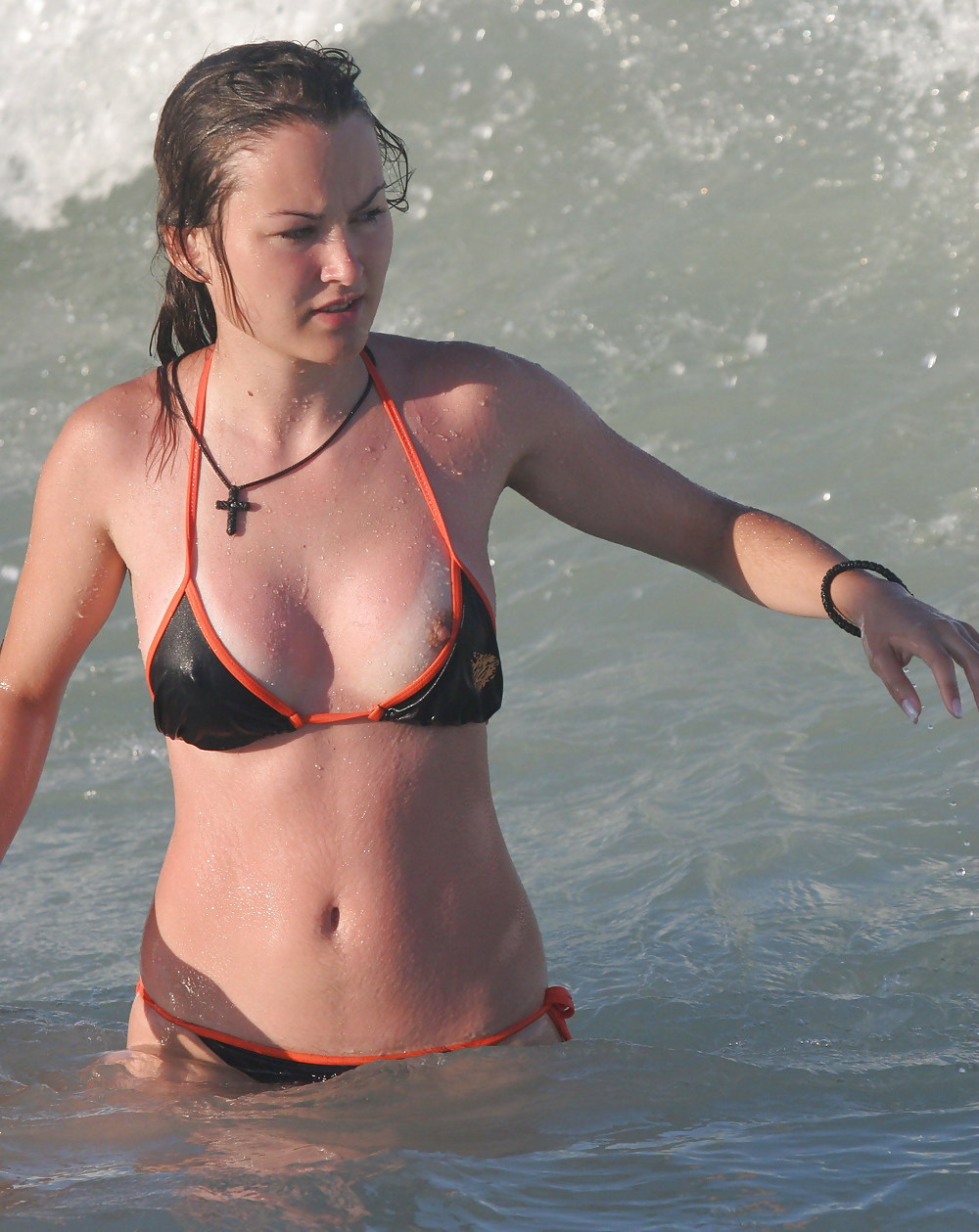 pics slip Bikini nip