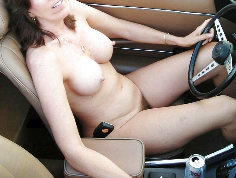 Wife flashing truck drivers on the way back