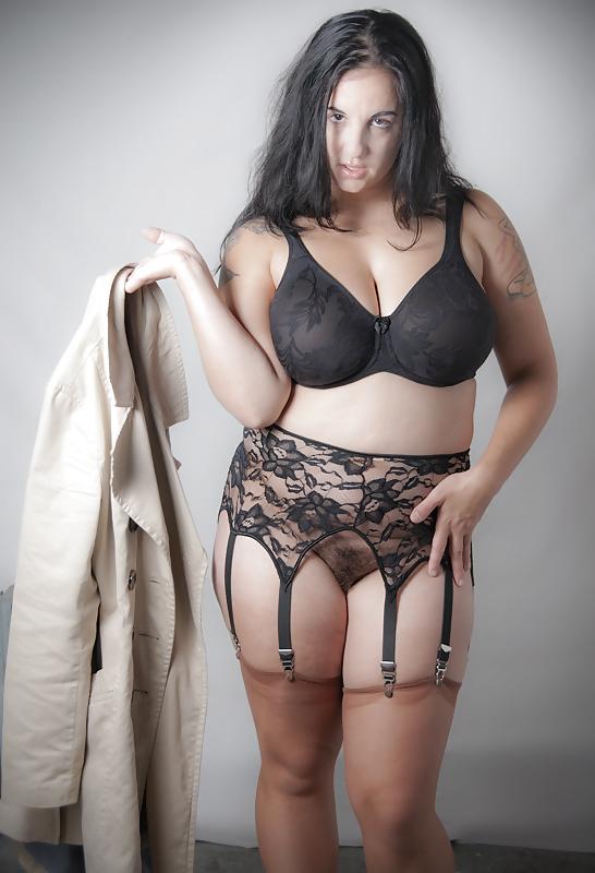 Nude bbw sheer lingerie
