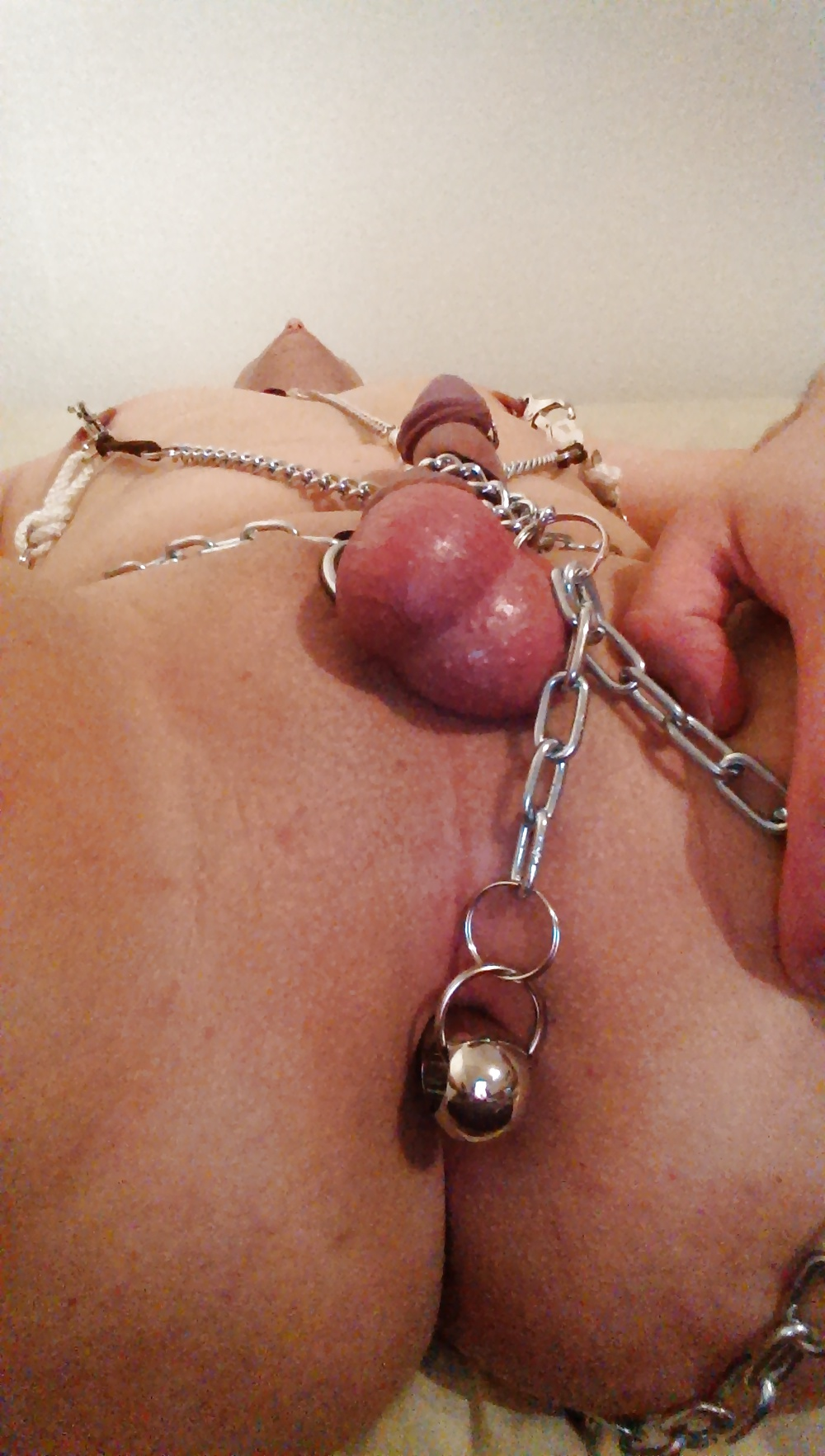 Bald pussy nipple clamps — photo 3