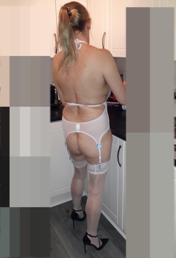 Scottish wife in white- 7 Pics