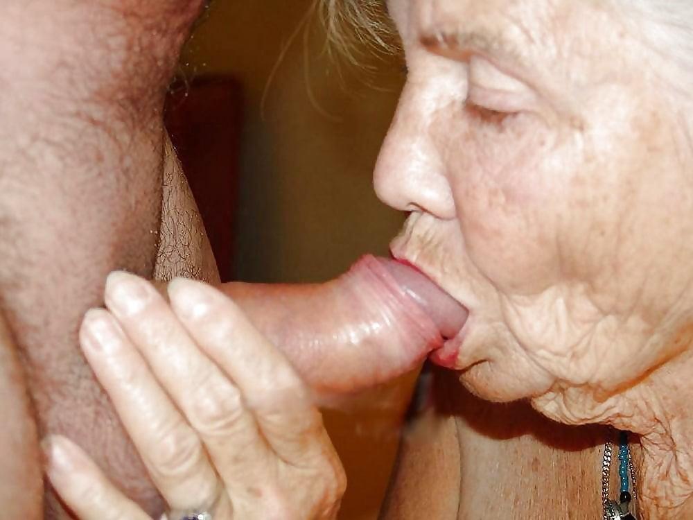 Grandma sucks my cock