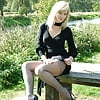 Legs and heels in the park