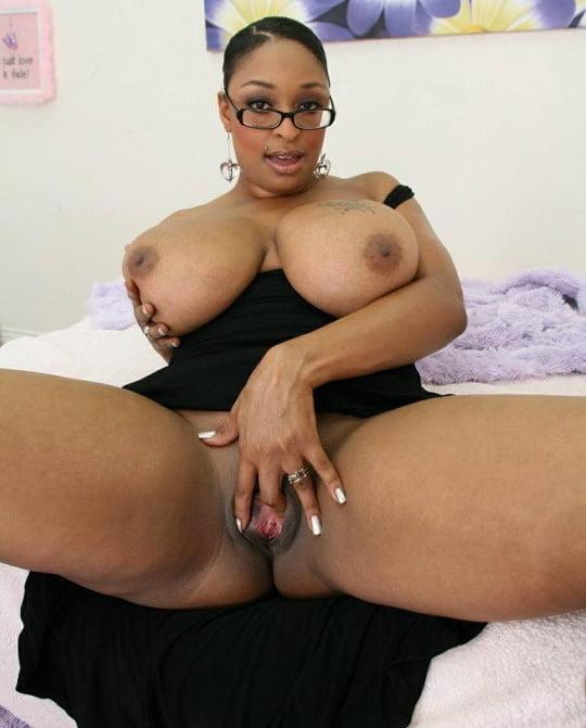 Ebony milf catches her husband