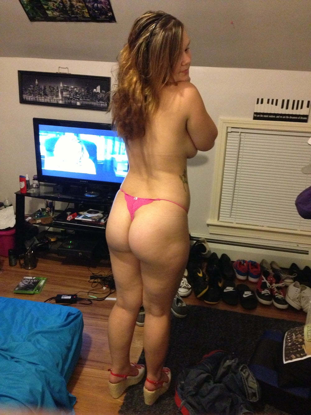 Hot naked moms with red thong