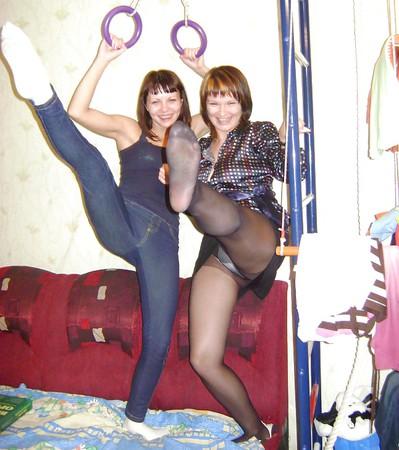Amateur ladies in pantyhose-stop looking up my skirt! 9