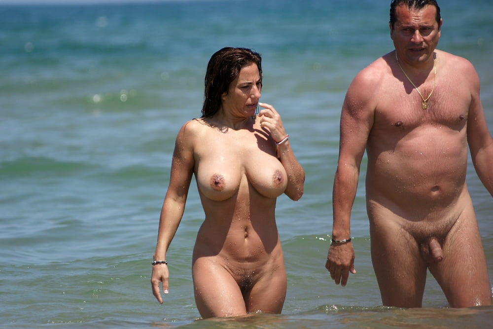 On a nude beach with my parents, baring almost all